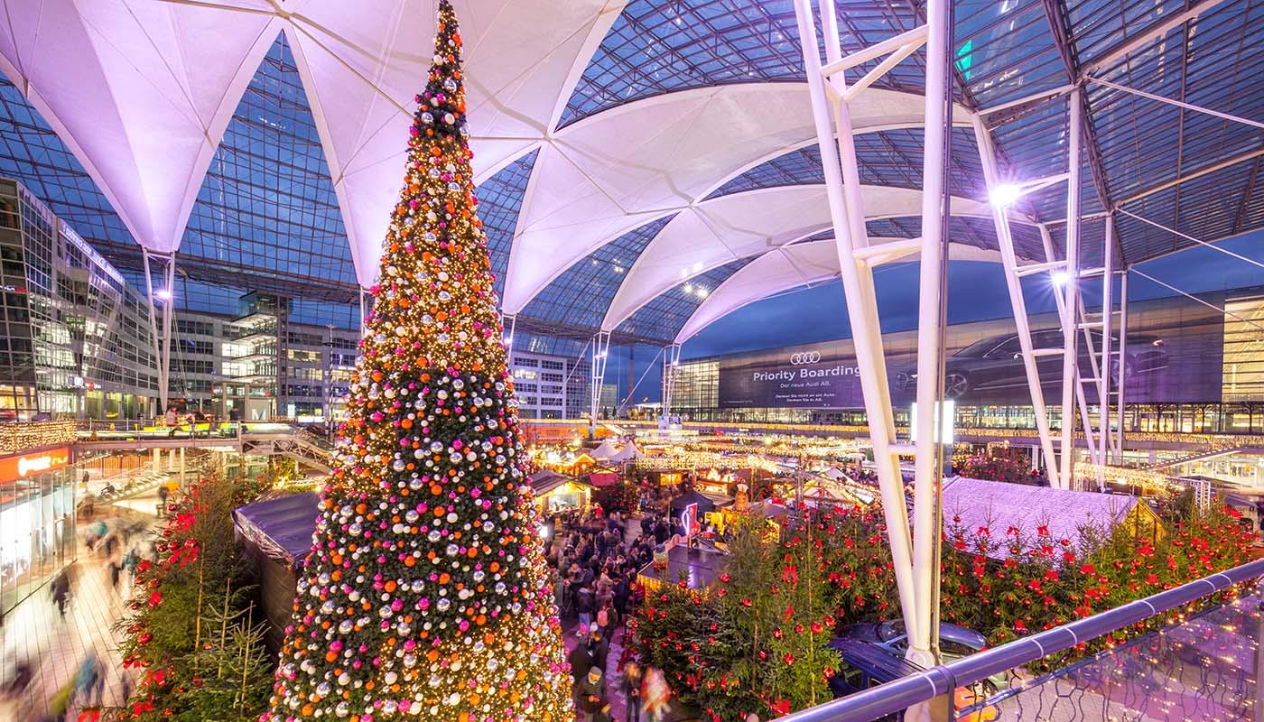 München Weihnachtsmarkt.Weihnachts Und Wintermarkt 2017 Flughafen München