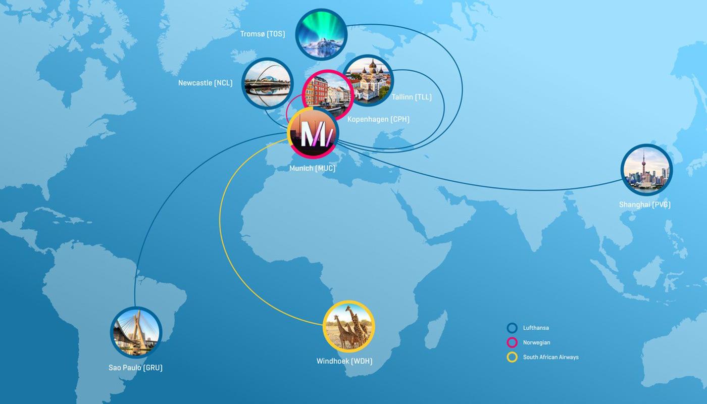 Flugrouten Karte Weltweit Lufthansa.Neuer Winterflugplan 2019 2020 Flughafen Munchen