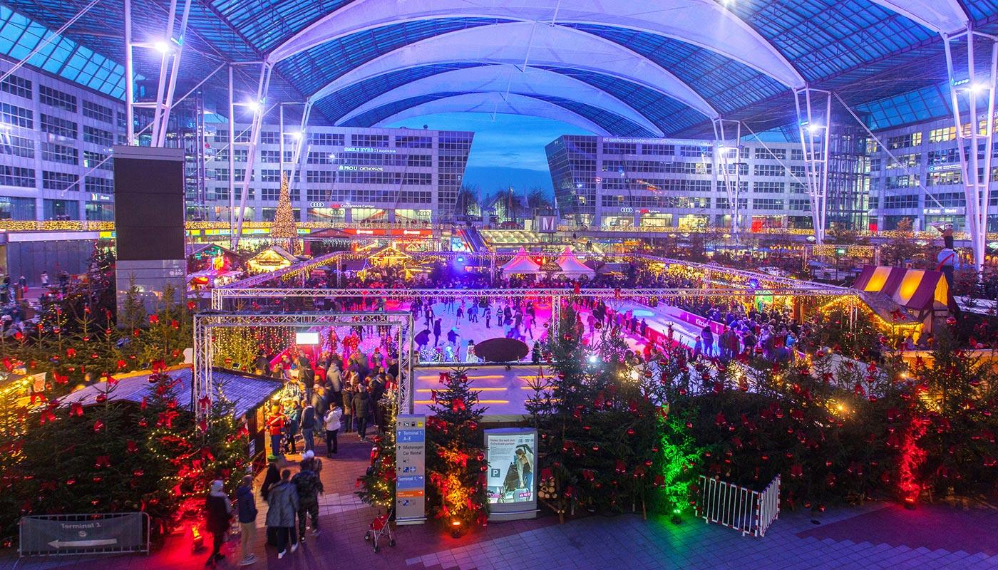flughafen münchen wintermarkt
