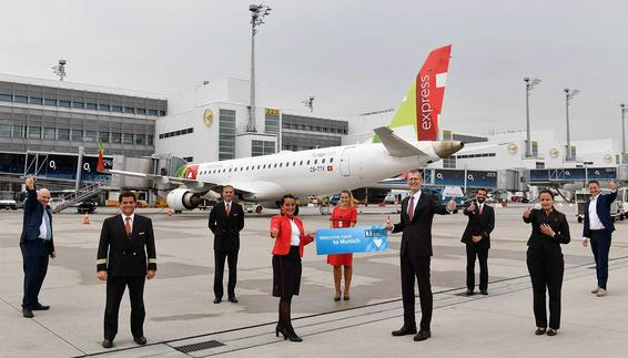 TAP flies twice daily from the Bavarian to the Portuguese capital